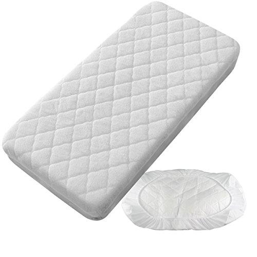 PEKITAS Protector Colchón / Cubre colchón Impermeable Acolchado – Minicuna 50 X 80 cm Fabricado En España