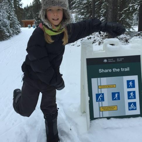 Tadhg mocking the skate ski icon (not the skiers)