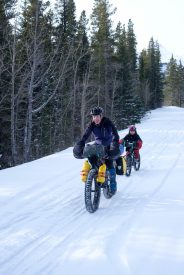 new family fatbikepacking father