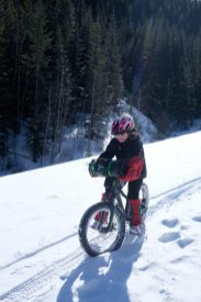 new family fatbikepacking daughter