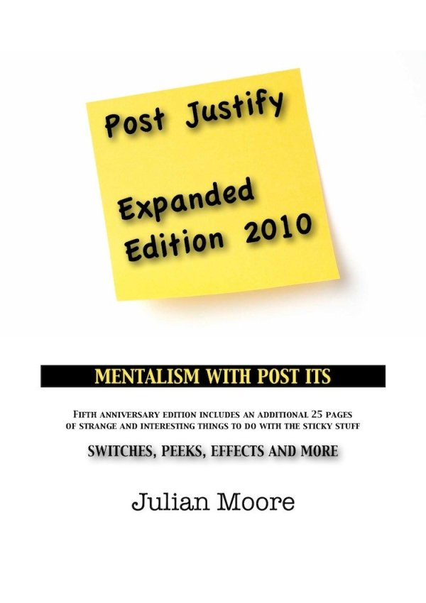 post justify mentalism post it notes
