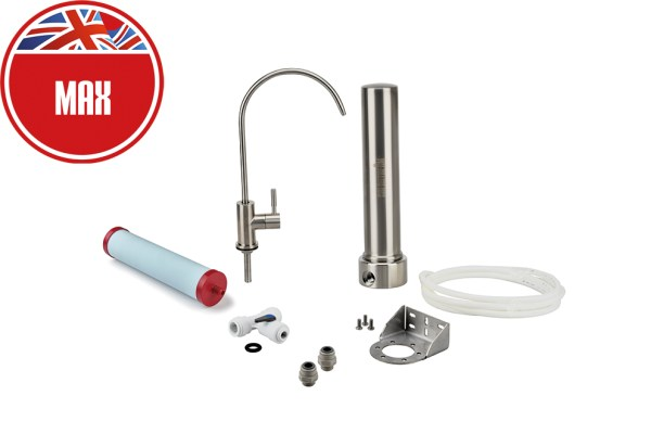 Replacement water filter. Best stainless steel water filter. Undersink water filer. Best filters on the market.UK made.Free next day UK delivery.Carbon neutral. Removes more contaminants