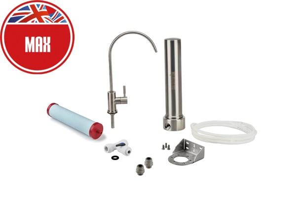 Sistema sotto-lavello in acciaio inox con purificatore max