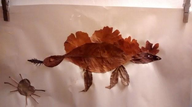 Leaf Dinosaur - Natural Crafts