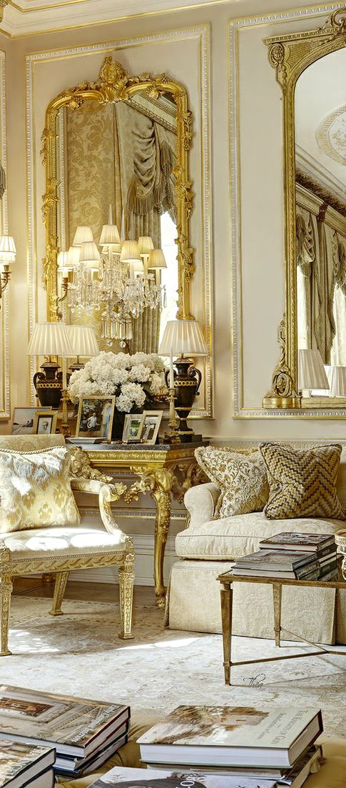 Gold, Coral U0026 Cream Living Room Home Decor Ideas