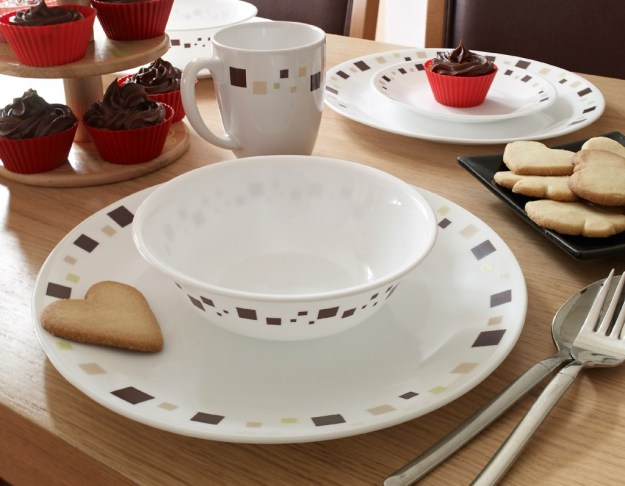 Corelle Geometric tableware - lifestyle