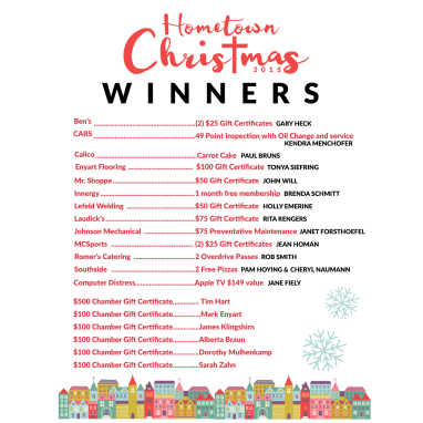 Hometown Christmas Winners