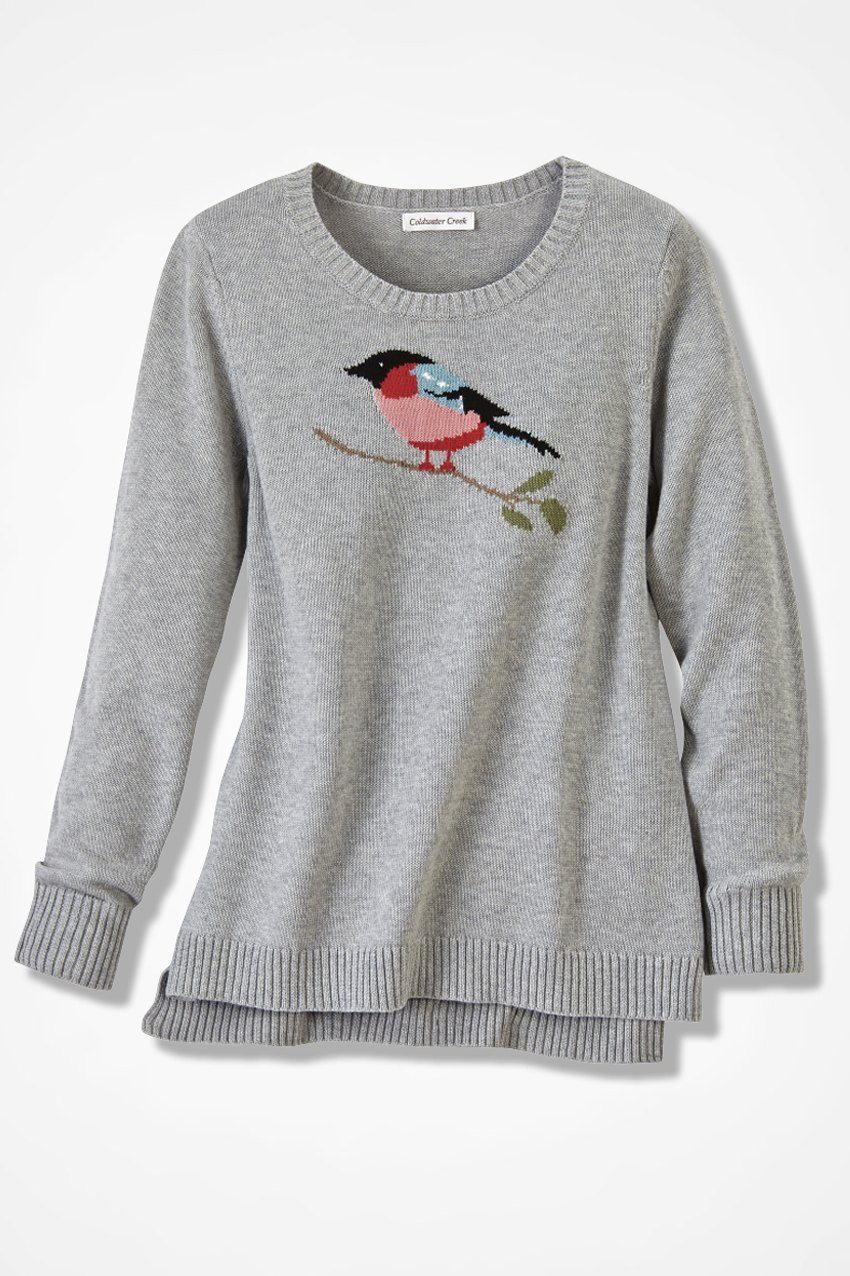 Mountain Bird Intarsia Sweater Coldwater Creek