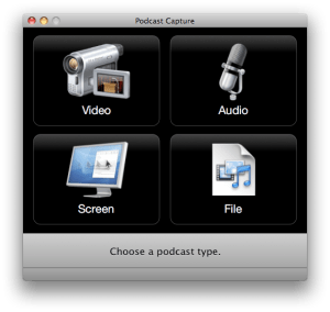 Apple's Podcast Capture Application