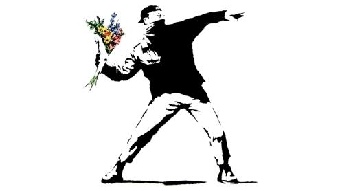 Manifestante por Banksy