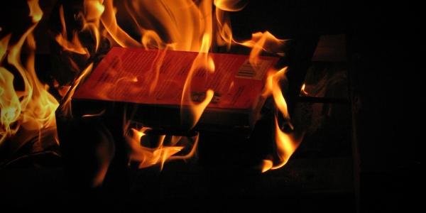Libro ardiendo por Patrick Correia