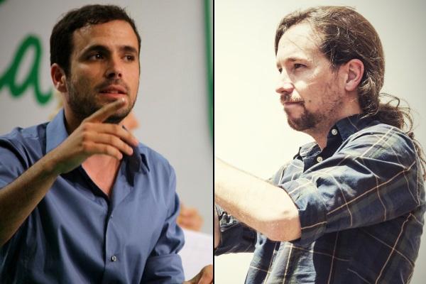 Alberto Garzon por IU Andalucía y Pablo Iglesias por Marc Lozano