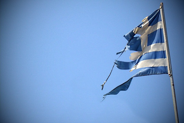 Bandera de Grecia por Fredrik Rubensson