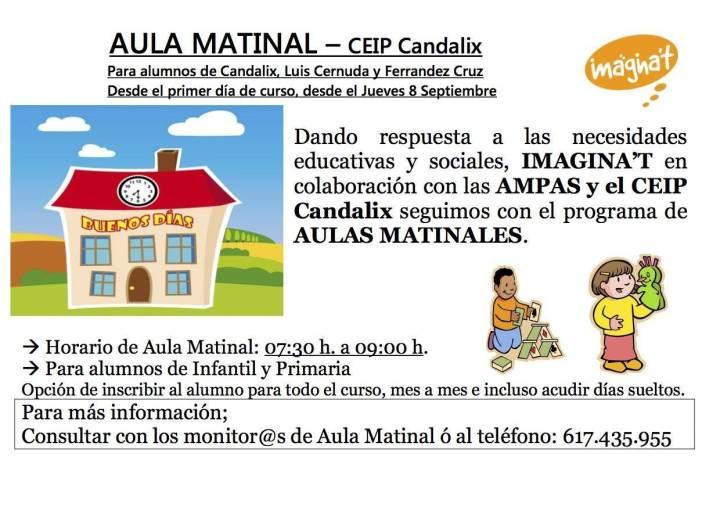 AulaMatinal CEIP Candalix cartel2