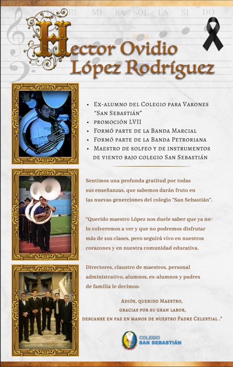 Fallecimiento Prof Lopez Rodriguez