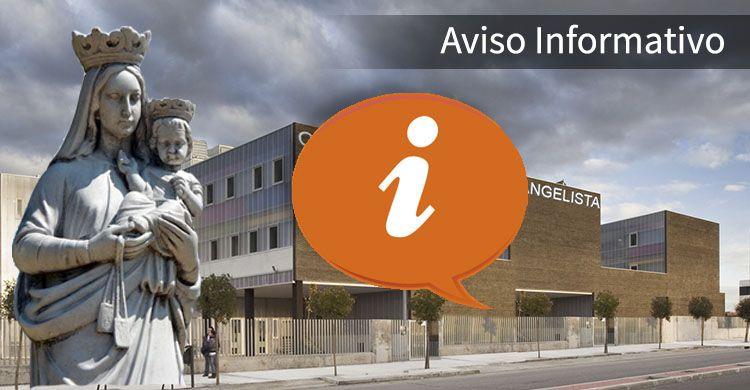 Aviso Informatico Pastoral ColegioSJE