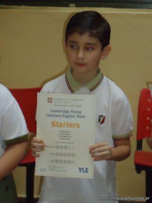 Entrega Certificados YLE 4