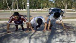 Entrenando para Rugby en la Costanera 15