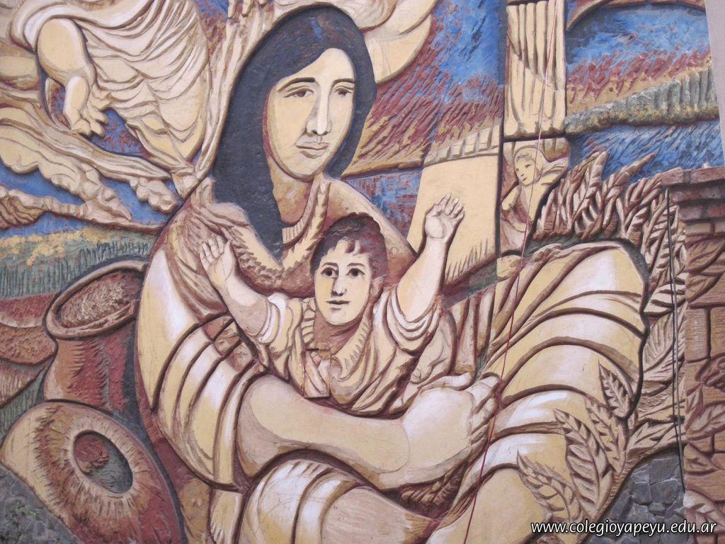 San Martin con Rosa Guaru