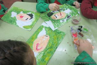 Pintando a Frida Kahlo en Salas de 5 53