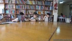 Tercero visita la biblioteca 100