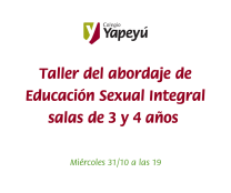 Taller sobre cómo se abordará la Educación Sexual Integral en el Jardín