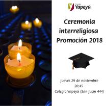 Ceremonia interreligiosa Promoción 2018