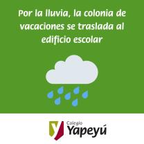 La colonia de vacaciones se traslada al Colegio (San Juan 444)
