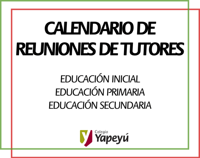CALENDARIO DE REUNIONES DE TUTORES