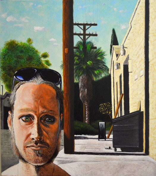 Aaron at 2149 Sacramento Street 2015 o/c 35x31 inches