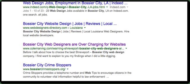 Bossier City Web designers