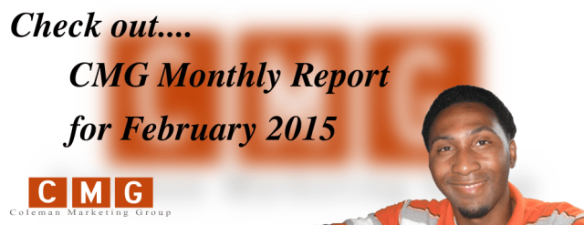CMG Monthly Local SEO Marketing Report for Feburay 2015