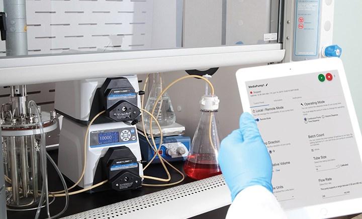 remote pump monitoring in lab