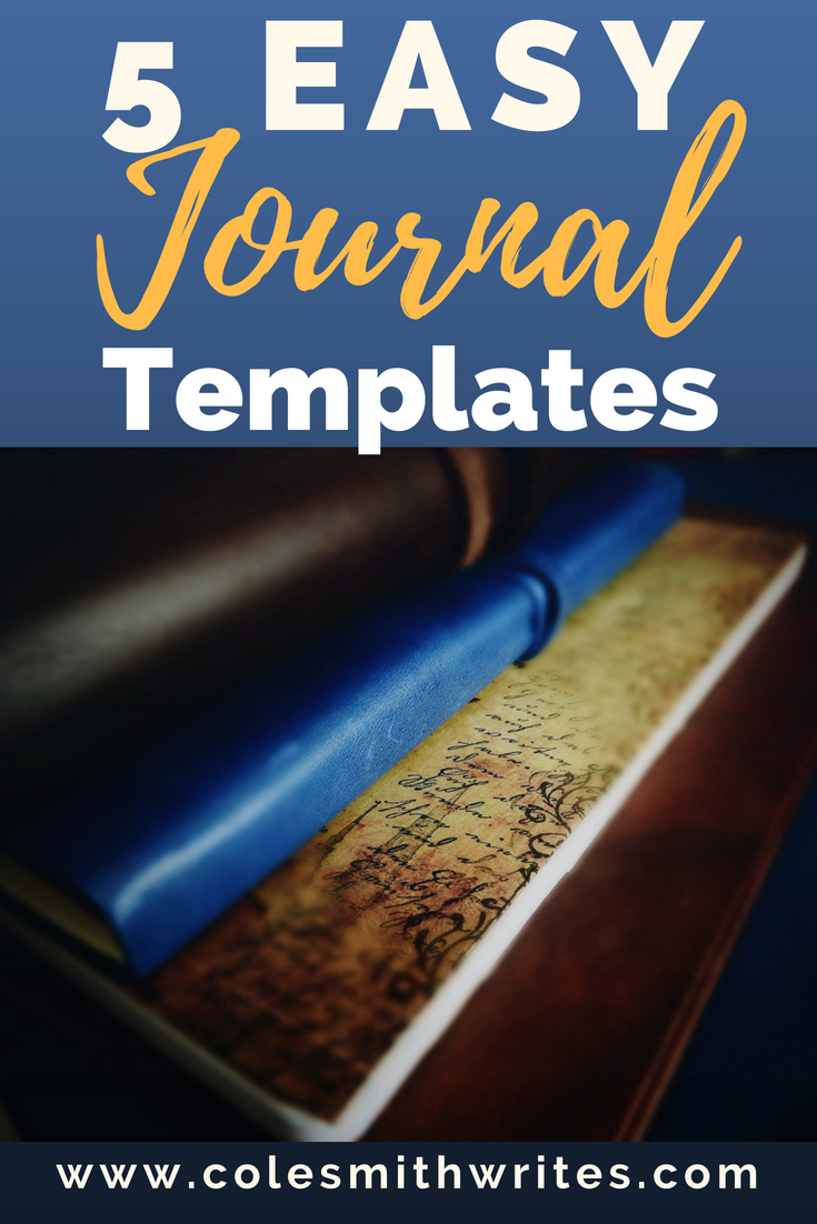 Want to journal but think you won't have time? Keep up with your journal with these five easy journal templates. Each takes only a few minutes to do. #journaling! | #writing | #bujo | #writemore | #paper