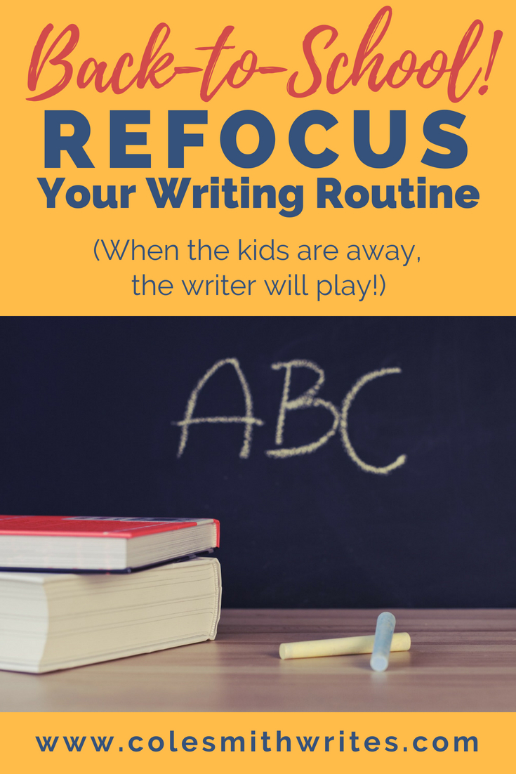 Back-to-school: Time to get your writing routine on track! Find out how to refocus and knock out your daily word count faster than a kid running for the playground at recess :)