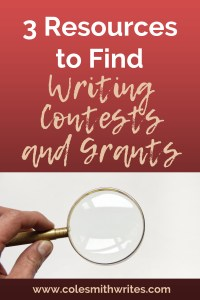 Want to find more writing contests and grants? Here's how! | #writersunite #writinghelp #writingtips #fiction
