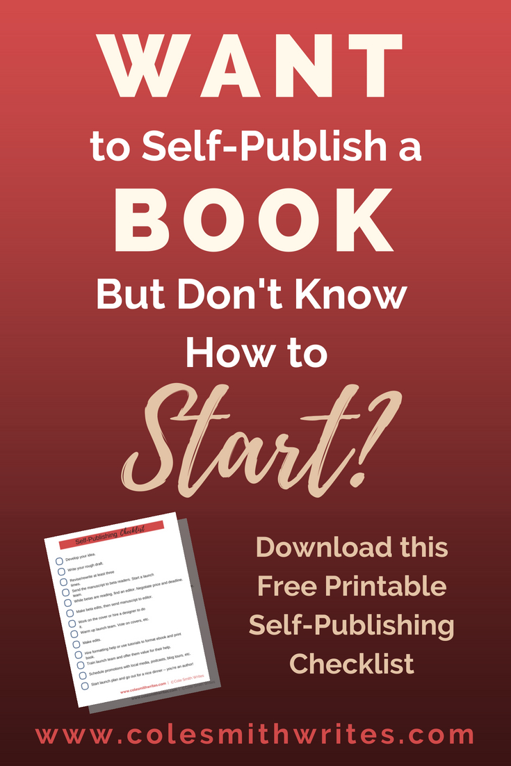This free printable self-publishing checklist will help you know where to start | #authorhelp #selfpub #kindle #writing #booklaunch #publishingtips #ebook #paperback #writinghelp #fictionwriting #memoir #nonfiction #story #writergoals #writer #writersblock #career #indieauthors #indiepub #solopreneur #amazon #writing #publishing