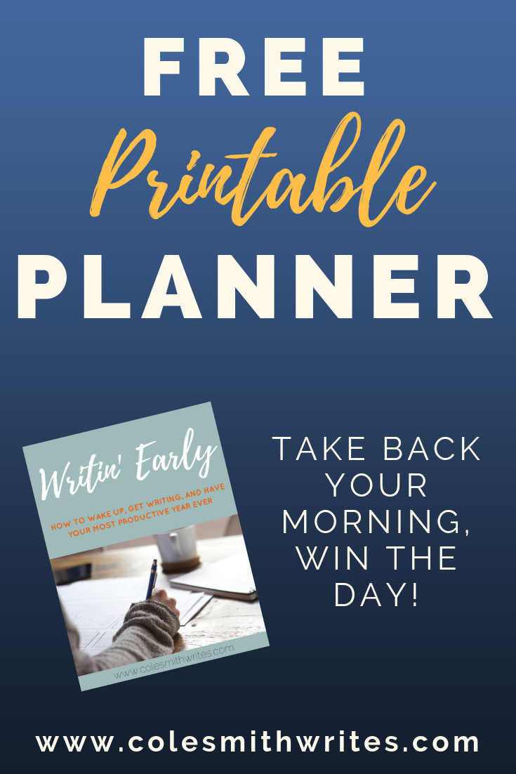 Free download: the Writin' Early productivity planner
