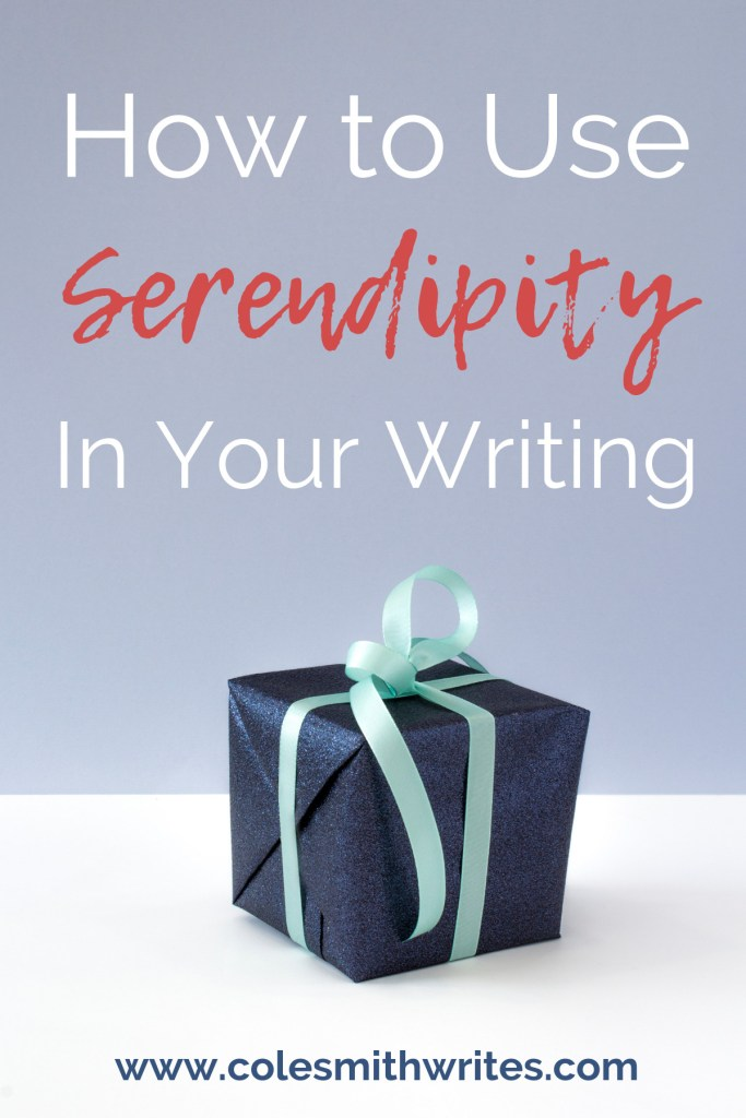 Is your WIP missing a little spark of interest? Find out how to use serendipity in your writing.  #writers #screenwriting #writingtips #fiction #authors #readers #writersunite #writinghelp #writingadvice #writingprompts