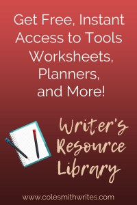 Introducing the Cole Smith Writes Resource Library for Writers and Creatives