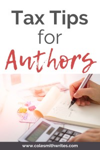 Need some tax tips for authors?