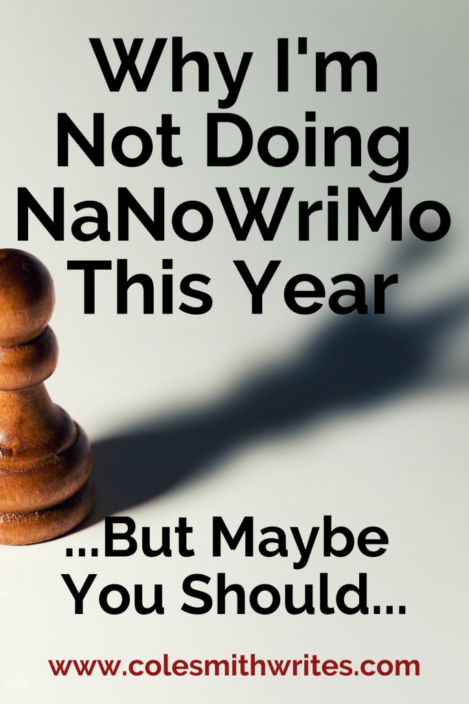 Why I'm Not Doing NaNoWriMo This Year | #motivation #inspiration