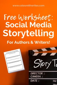 Use social media storytelling for authors | #readers #writers #indiewriters #indieauthors