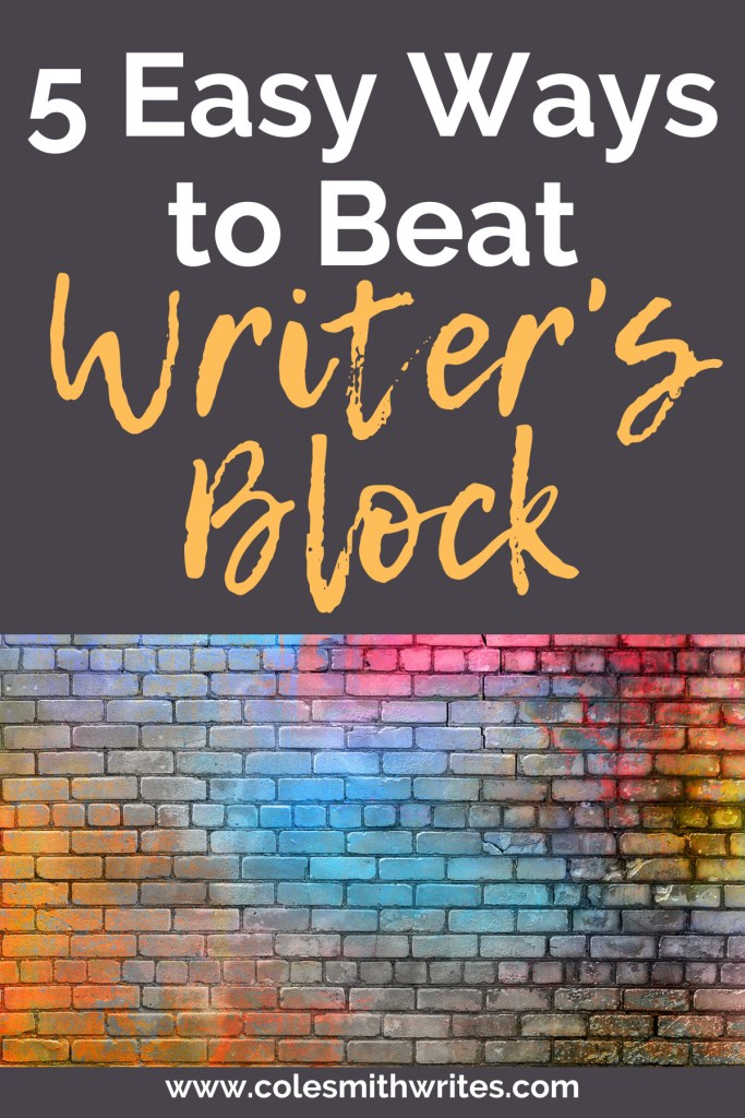 Here are 5 easy ways to beat writer's block | #fiction #indieauthors #indiepublishing #writingtips