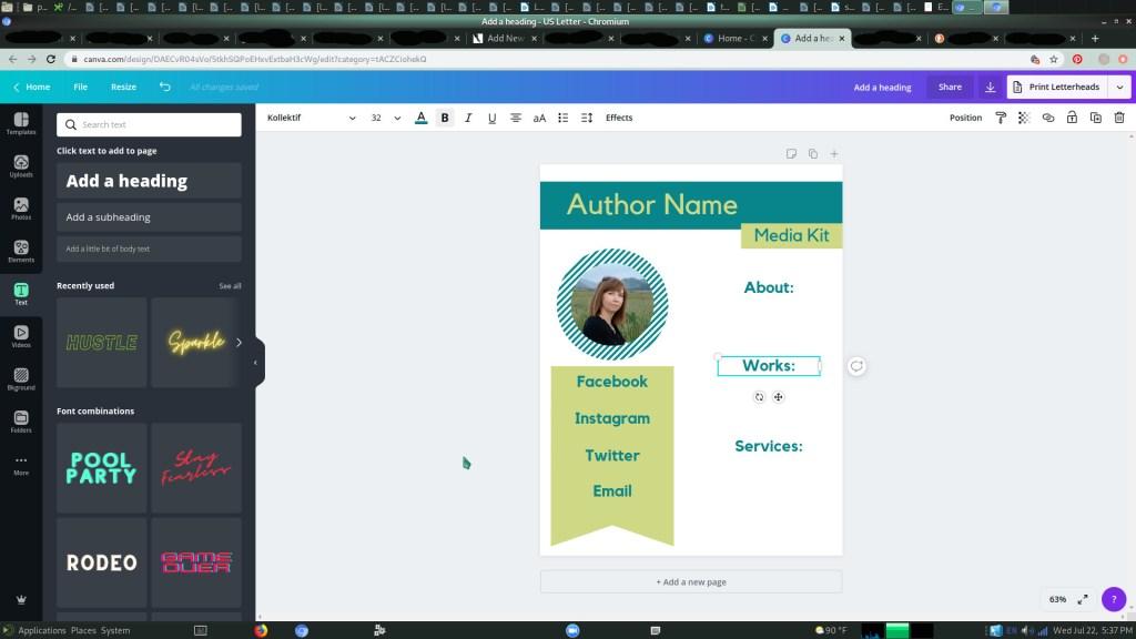 Free Author's Media Kit | Step 5