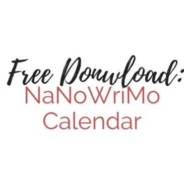Free Download: NaNoWriMo Weekly Calendar