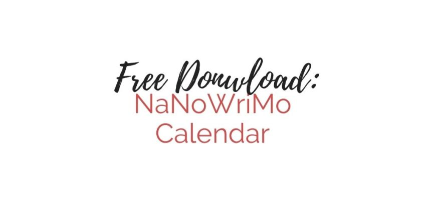 NaNoWriMo Weekly Calendar