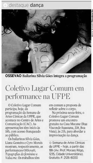 Performances na UFPE