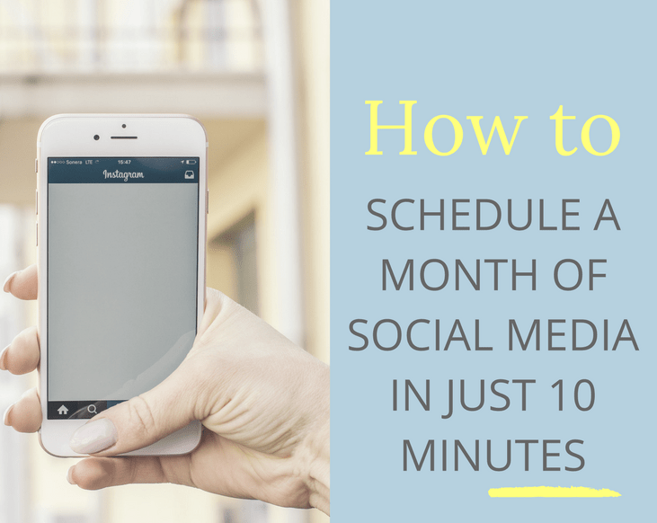 how to schedule a month of social media