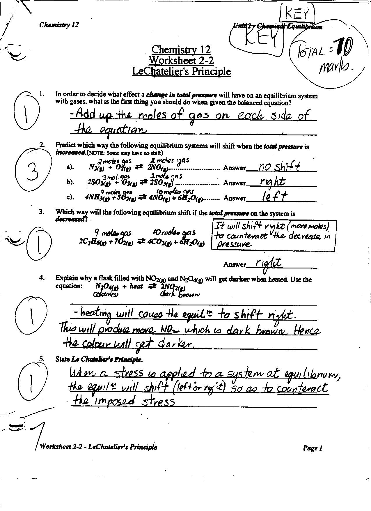 Concentration Worksheet Answer Key Solution